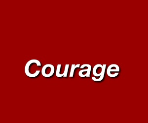 courage, red, and aesthetic image