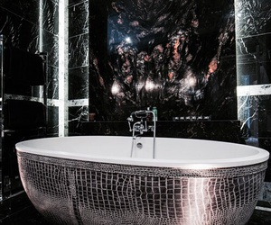 bath, dark, and interior image