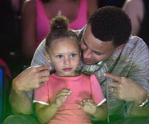 dad, stephen curry, and riley curry image