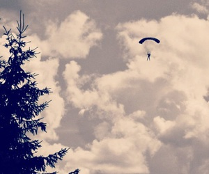 dive, freedom, and sky image