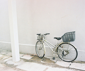 vintage, bike, and white image