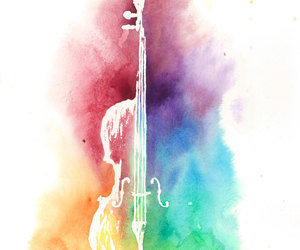 art, cello, and gift image