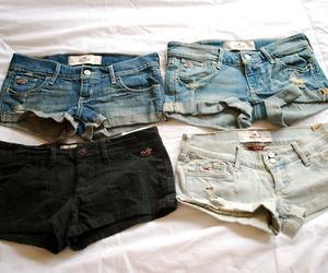 fashion, shorts, and hollister image