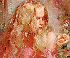 painting and woman image
