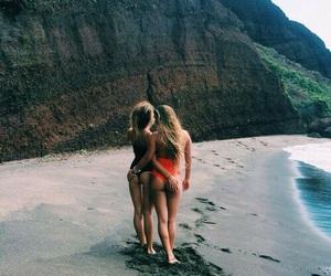 girl, beach, and lesbian image
