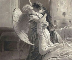 angel, kiss, and art image