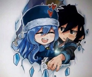 anime, gruvia, and fairy tail image