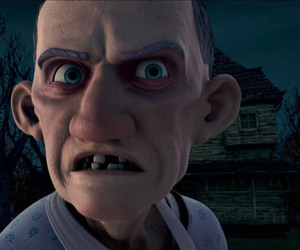 monster house movie lawn image