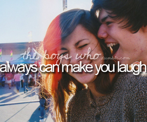 boy, love, and laugh image