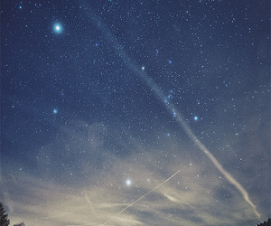 night, sky, and stars image