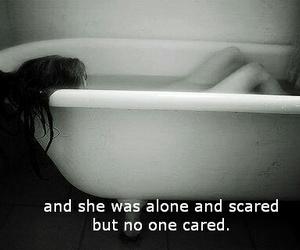 alone, sad, and scared image