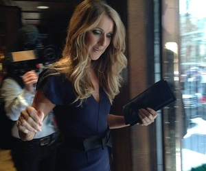 blue dress, celine dion, and gorgeous image
