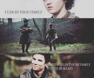 family, arya stark, and game of thrones image