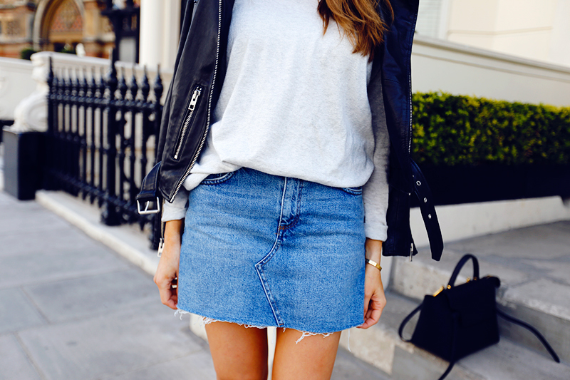 denim and skirt image