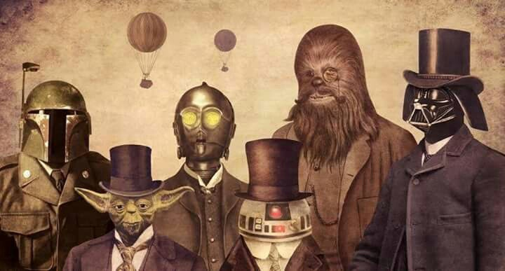 star wars, victorian, and art image