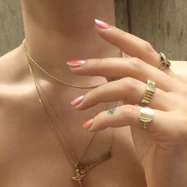 nails, fashion, and necklace image