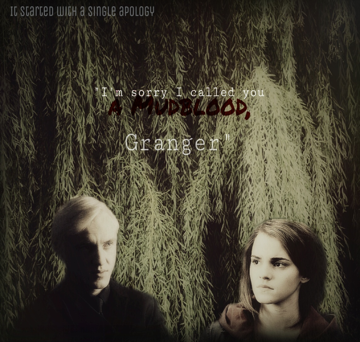 fanfiction, dramione, and draco x hermione image