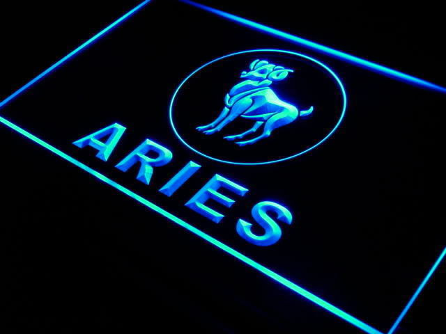 aries, blue, and glow image