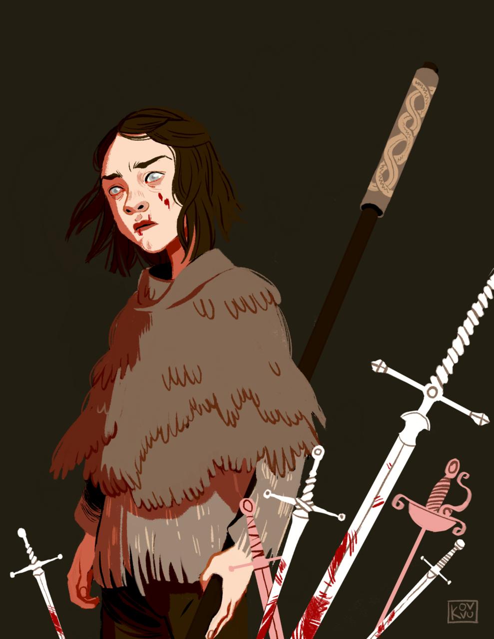 got, arya stark, and game of thrones image