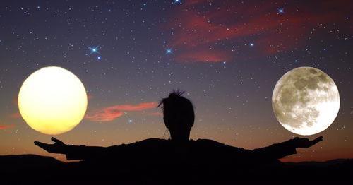moon, sun, and sky image