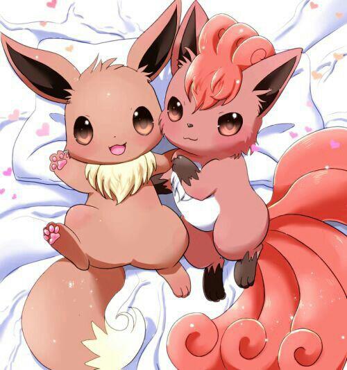 pokemon, eevee, and vulpix image