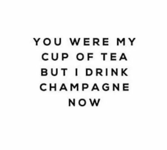 champagne and cup of tea image
