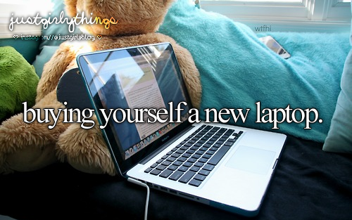 justgirlythings, laptop, and just girly things image
