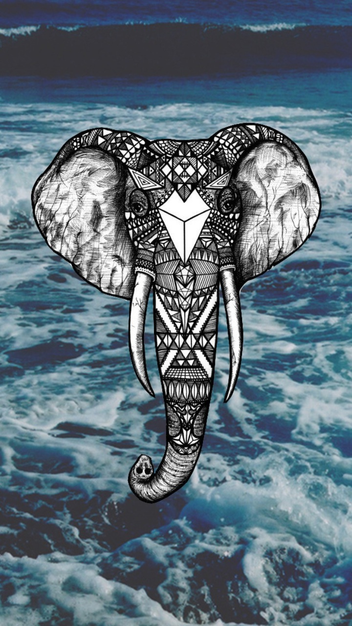 elephant and wallpaper image