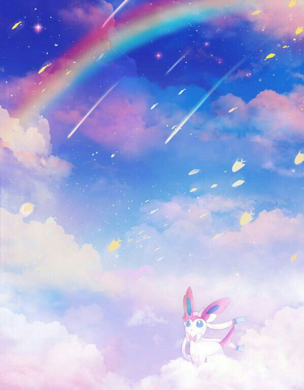 pokemon, rainbow, and sylveon image