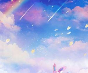 pokemon, rainbow, and sylveon image