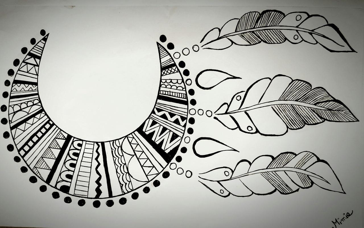 blackandwhite, draw, and dreamcatcher image