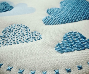 clouds, needlework, and craft kit image