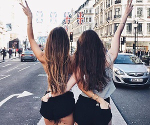 friends, girl, and hair image