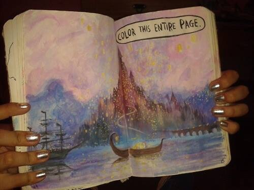 wreck this journal and tangled image