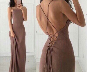 dress, fashion, and maxi dress image