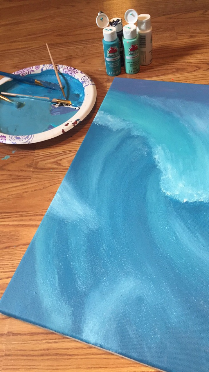art, blue, and canvas image