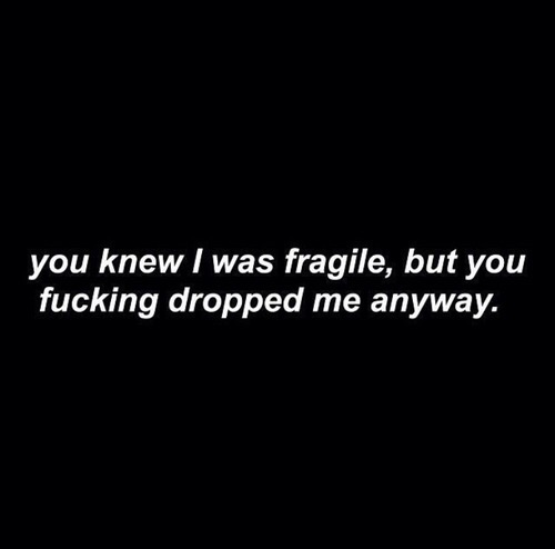 sad, quotes, and fragile image