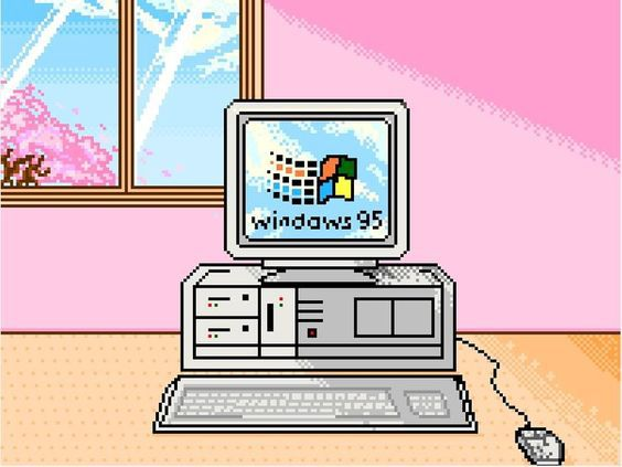 pixel, windows, and computer image