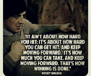 quote, rocky, and motivation image