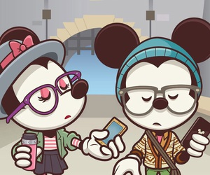 disney, mickey, and hipster image