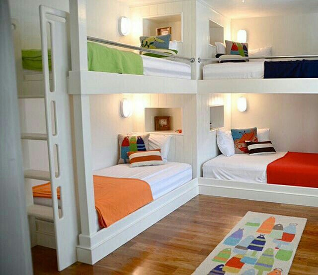 bedroom, bunk bed, and interior image