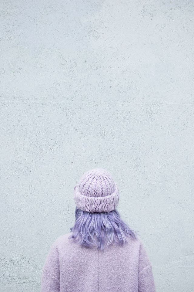 purple, hair, and pastel image