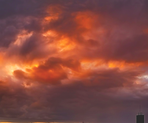orange, clouds, and sky image