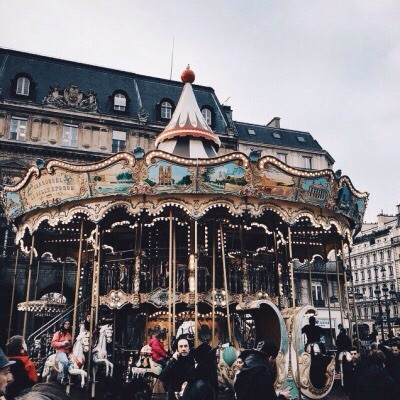 photography, vintage, and carousel image