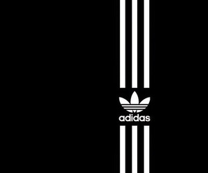 adidas, black and white, and bw image