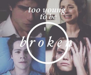 teen wolf, broken, and lydia martin image