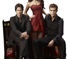 the vampire diaries, Nina Dobrev, and ian somerhalder image