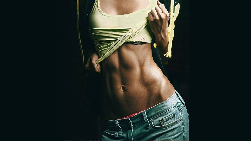 fit, girl, and abs image