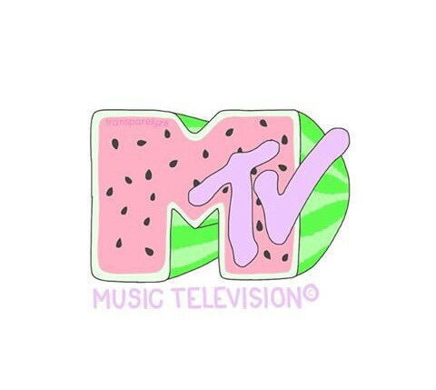 mtv, watermelon, and pastel image