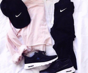 nike, outfit, and pink image